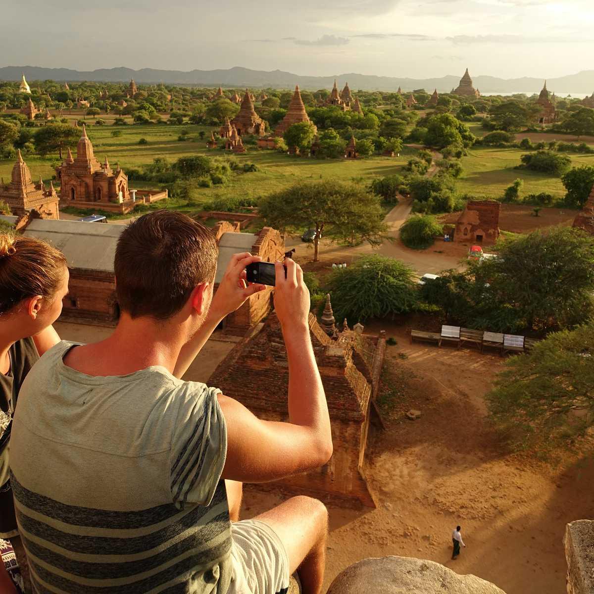 Sunset from Shwesandaw, Bagan, Myanmar