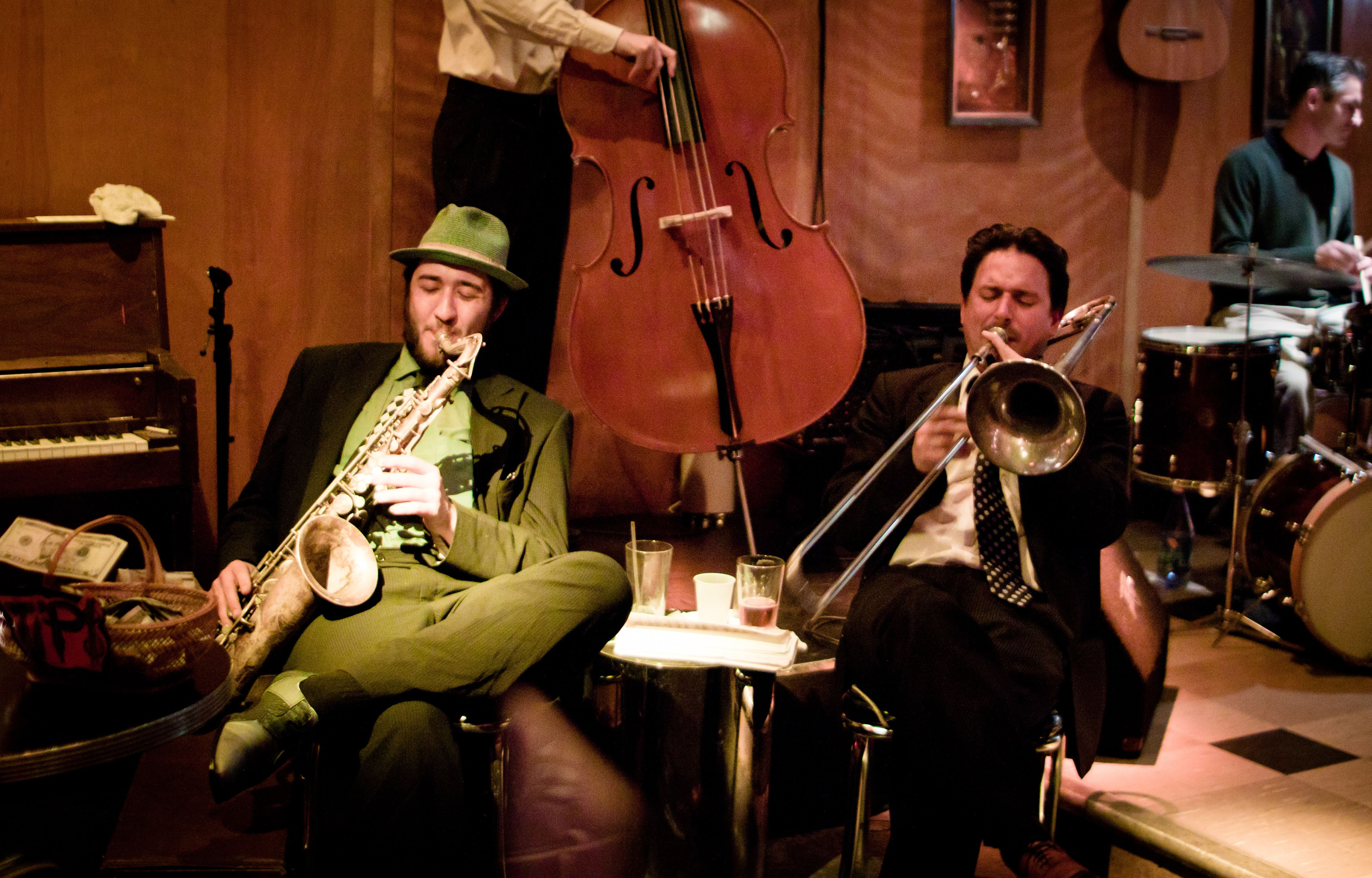 Jazz musicians at Club Deluxe, San Francisco