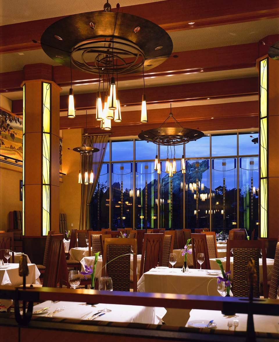 Inside a dining room