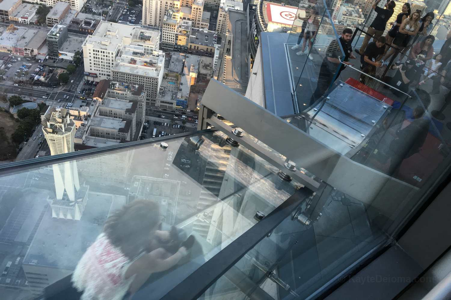 The Skyslide at OUE Skyspace LA