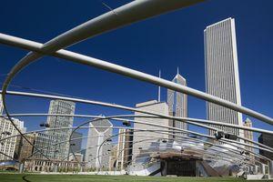 Jay Pritzker Pavilion in Millennium park, Chicago, IL