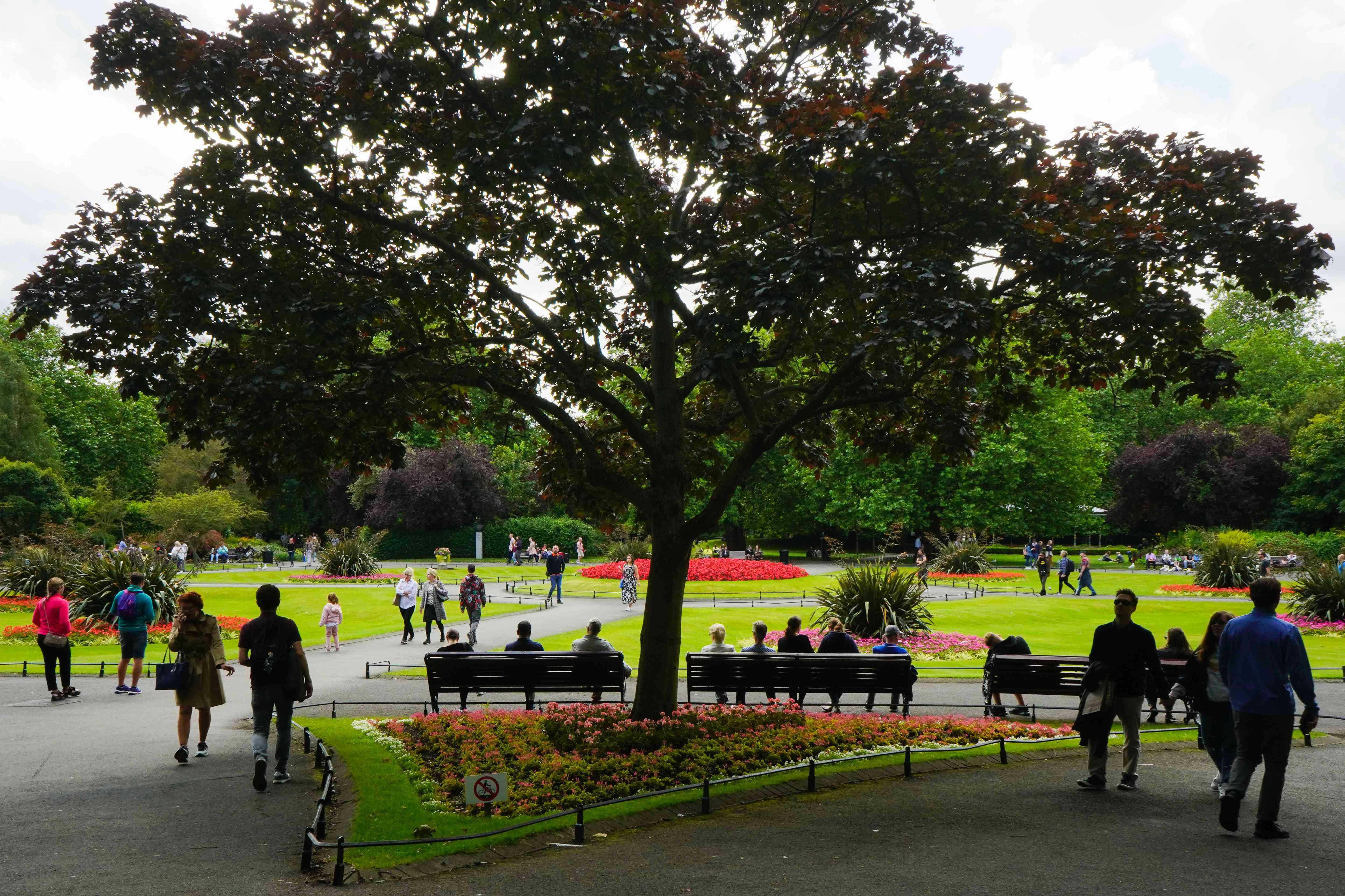 St. Stephen's Green in Dublin, Ireland