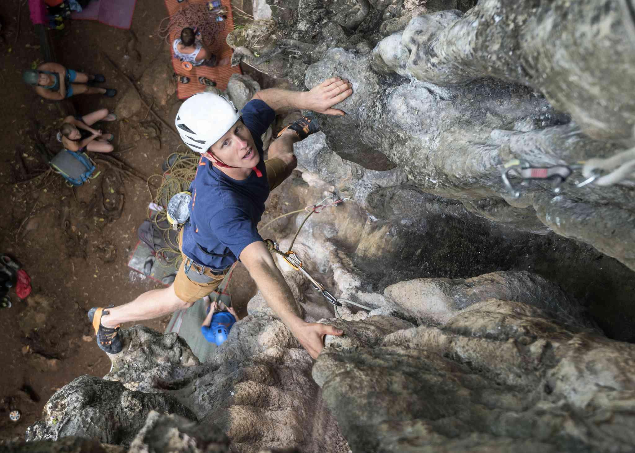 Rock climbing at Railay, Thailand