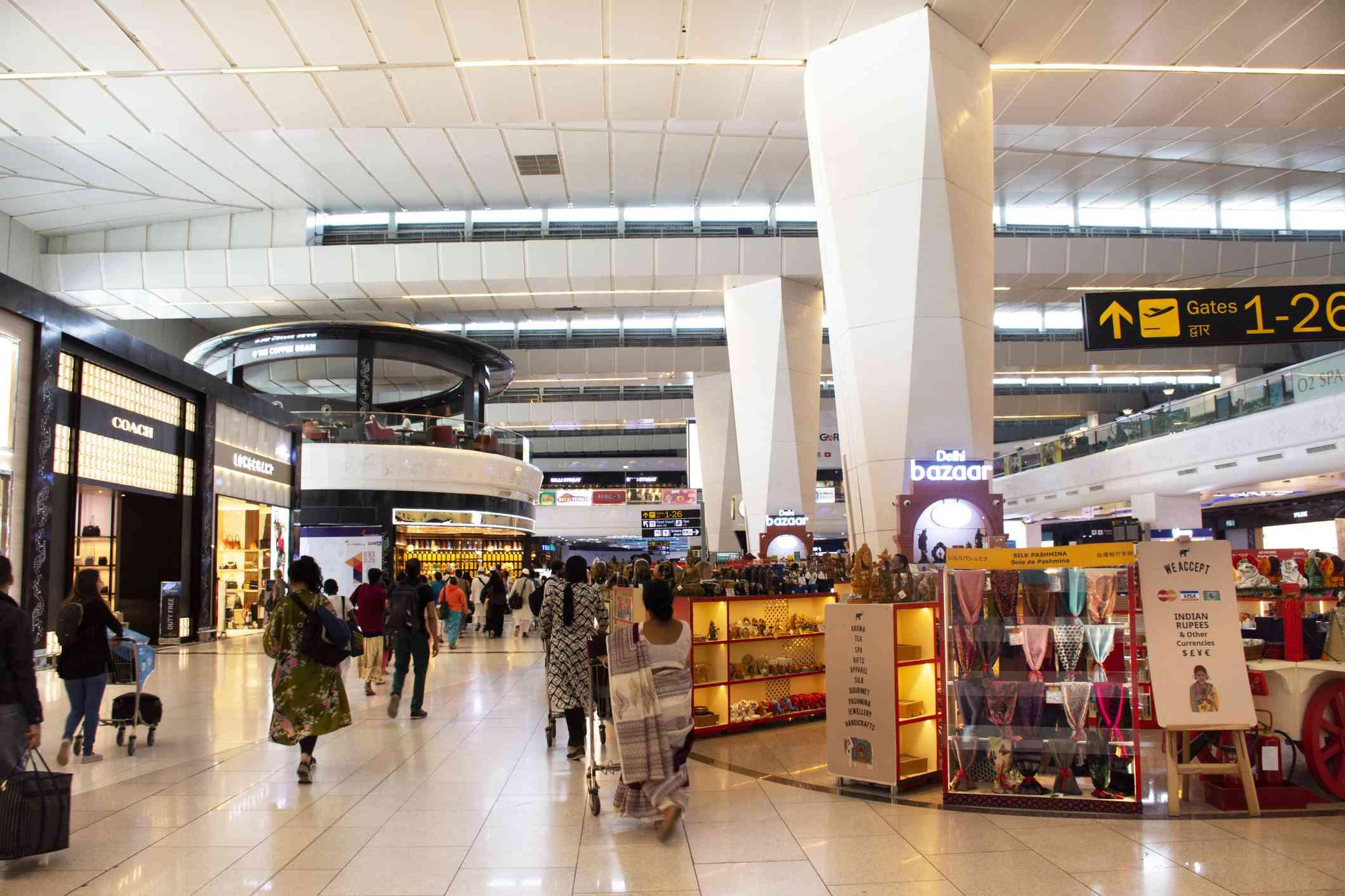 Aeropuerto de Delhi de compras.
