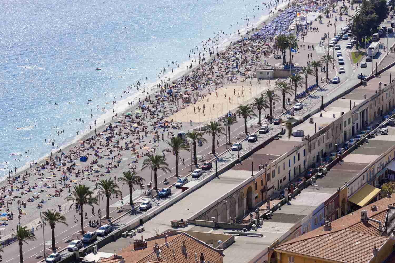 Beach in Nice France