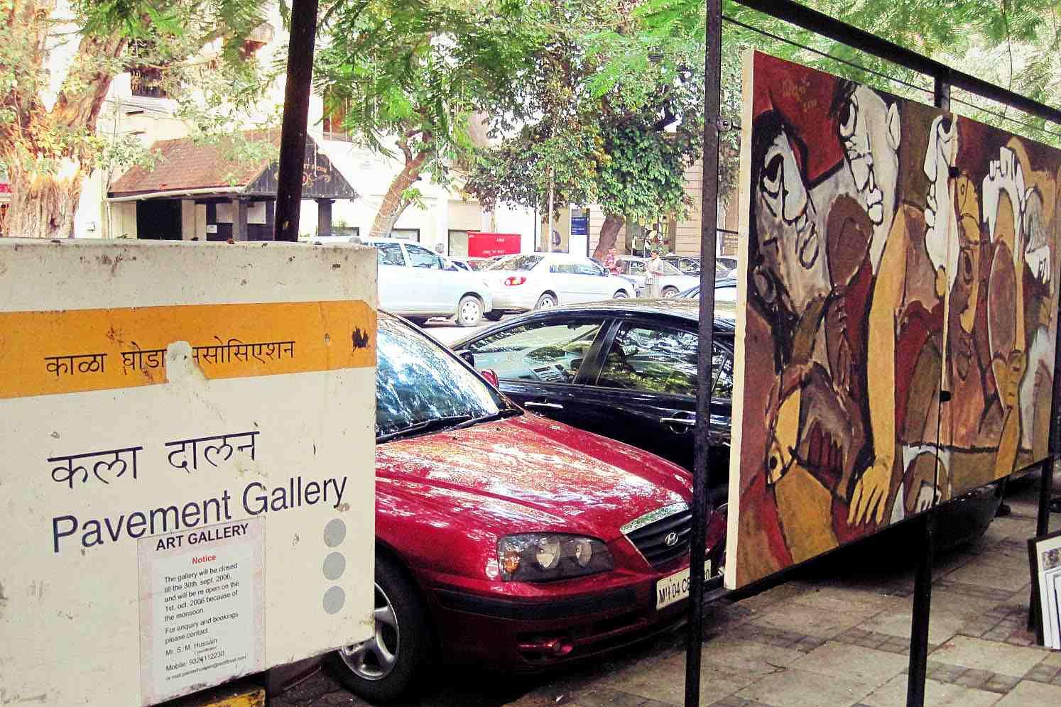 Foto Tour Mumbai Kala Ghoda Pavement Gallery