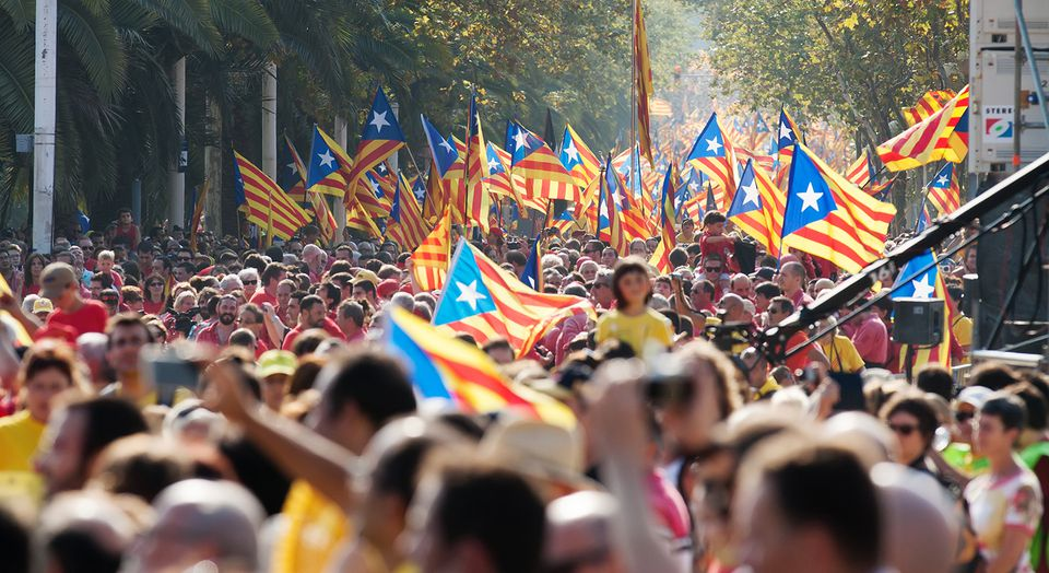 Rally in 300th anniversary of loss of independence of Catalonia