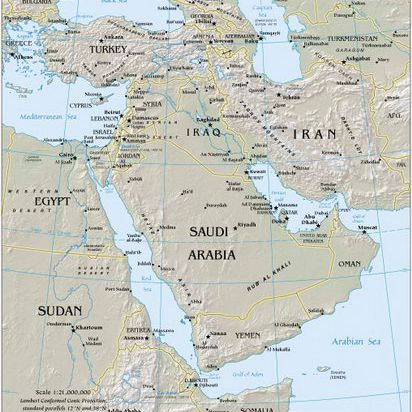 Middle East and SW Asia Cruise Map