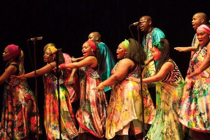 Soweto Gospel Choir performing on stage