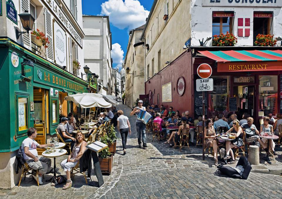 Montmarte District in Paris, France