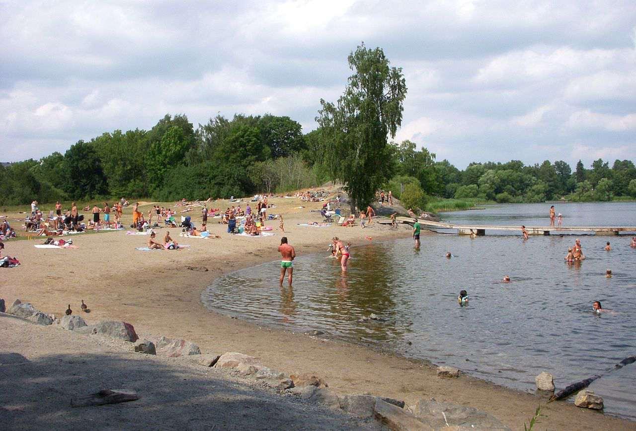 Hökarängsbadet beach in Stockholm