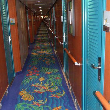Norwegian Pearl Hallway on Deck 10