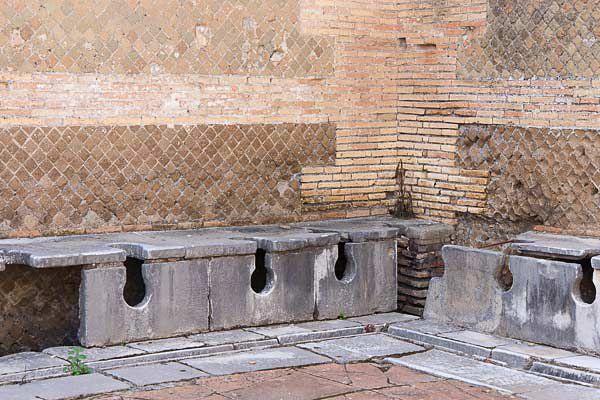 Ostia Antica Toilets Picture