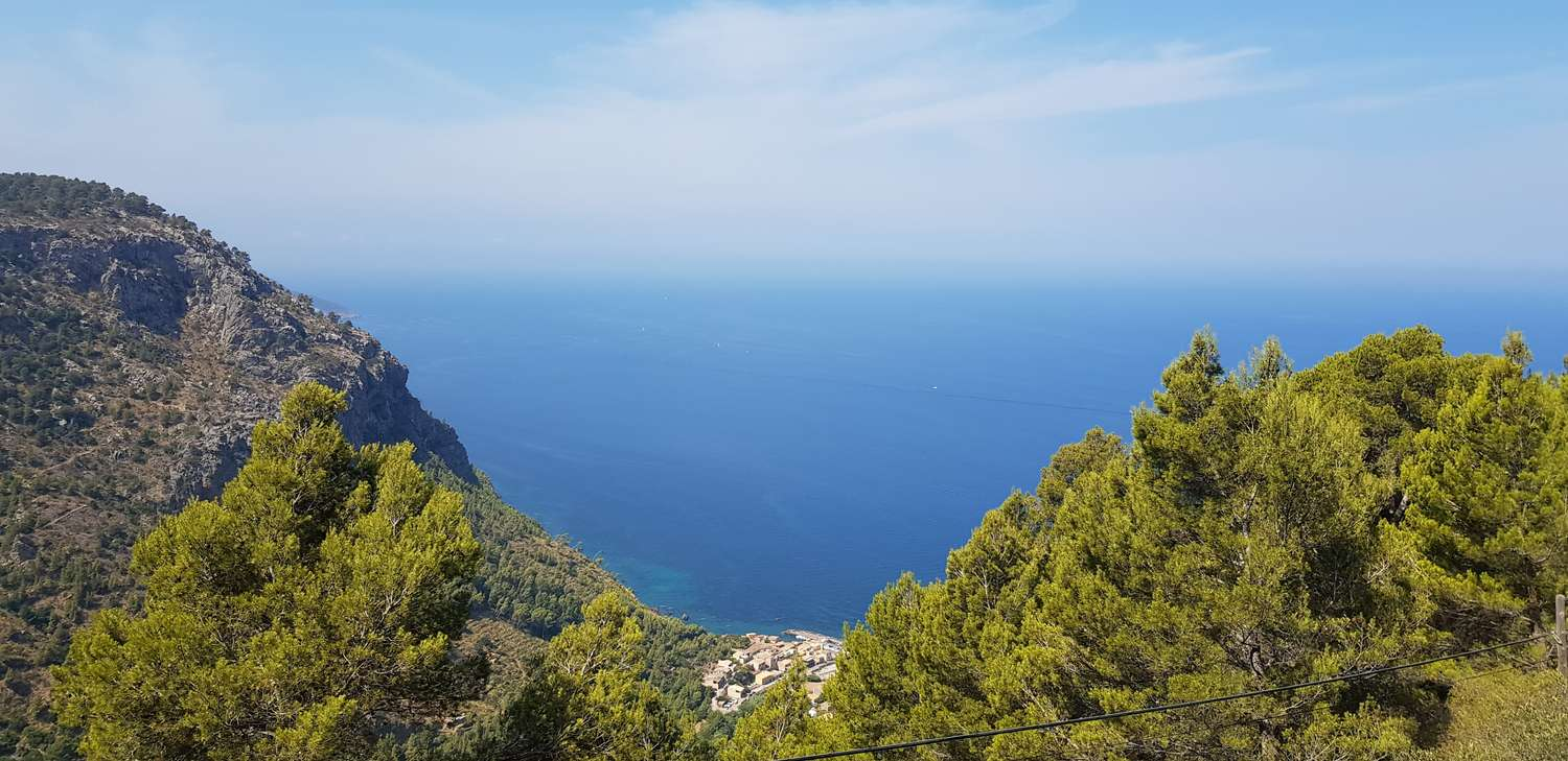 View of the sea from the mountains of Mallorca