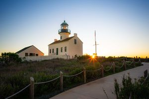 Cabrillo Lighthouse during sunset