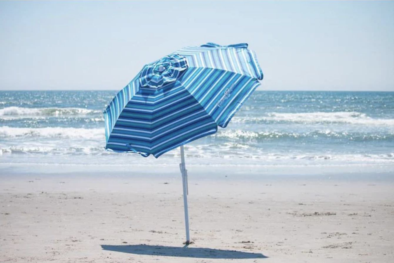 Tommy Bahama 6 ft. Steel Tilt and Sand Anchored Beach Umbrella