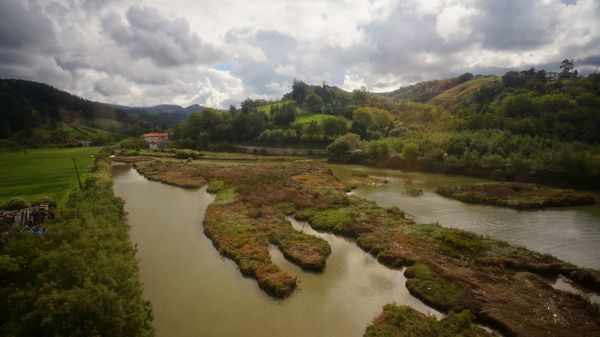 On the train from San Sebastian to Bilbao