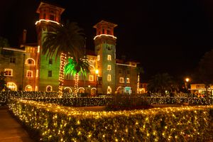 Christmas Lights on City Hall during St. Augustine's Nights of Lights