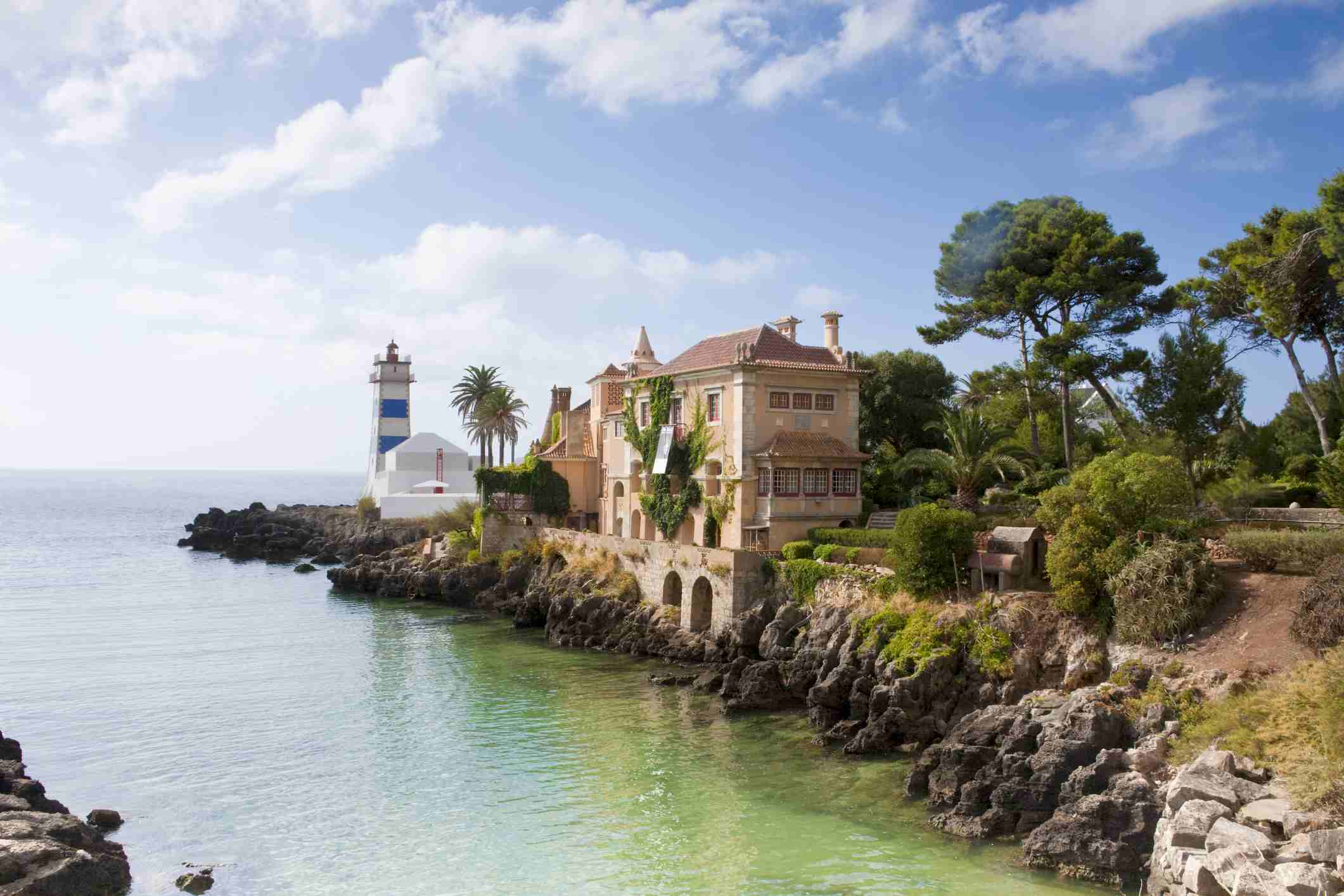 Santa Marta Lighthouse and Casa de Santa Maria in Cascais