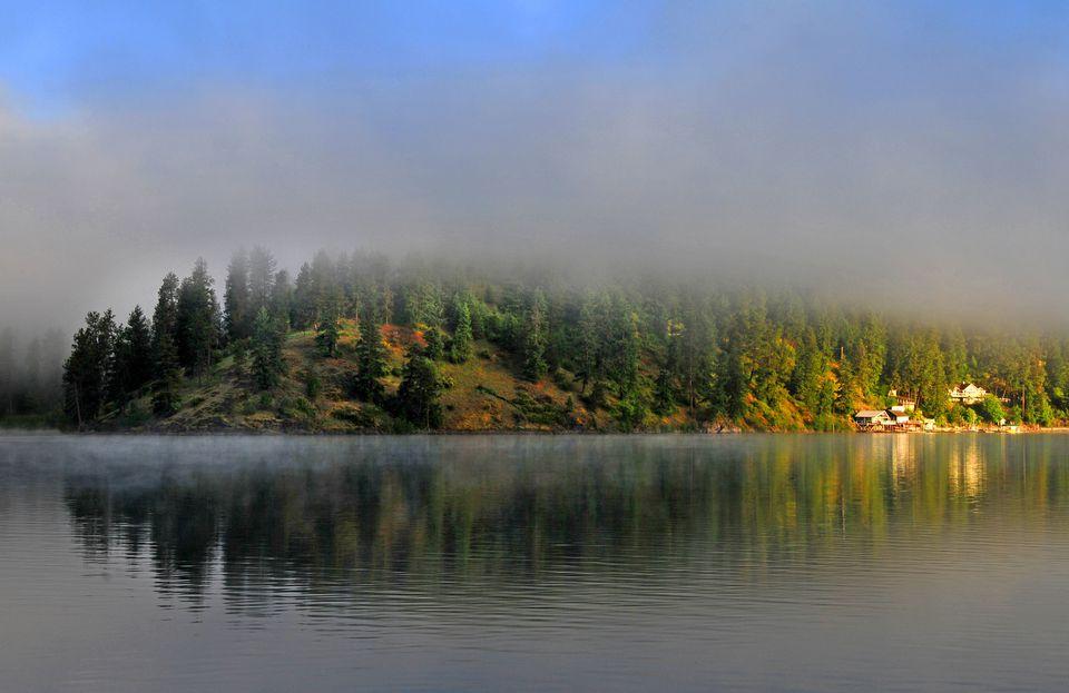 Scenic lake Coeur d' Alene