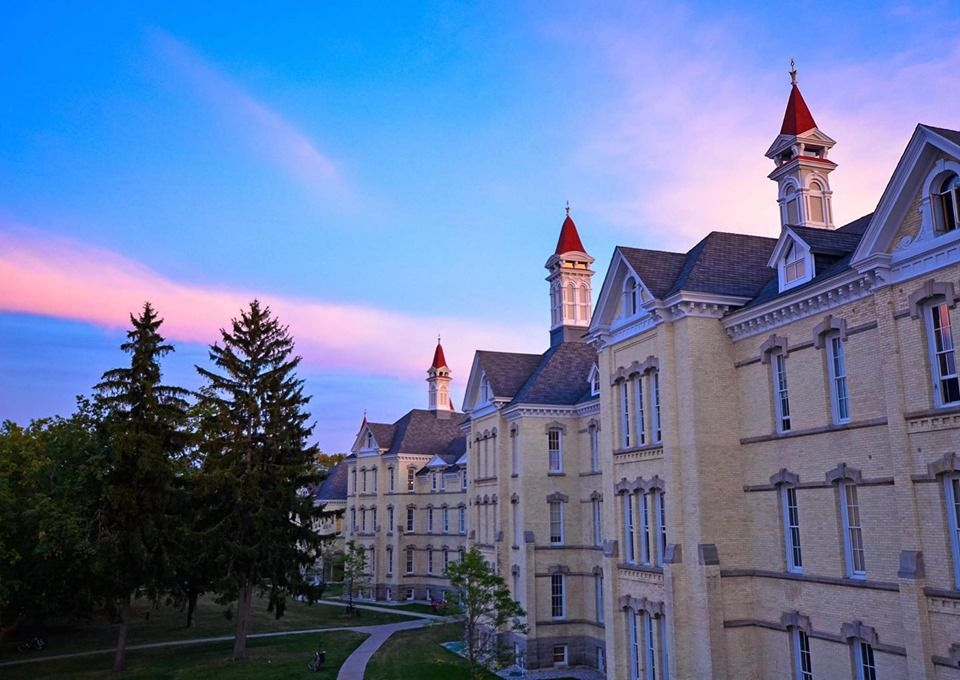 The Village at Grand Traverse Commons at sunset