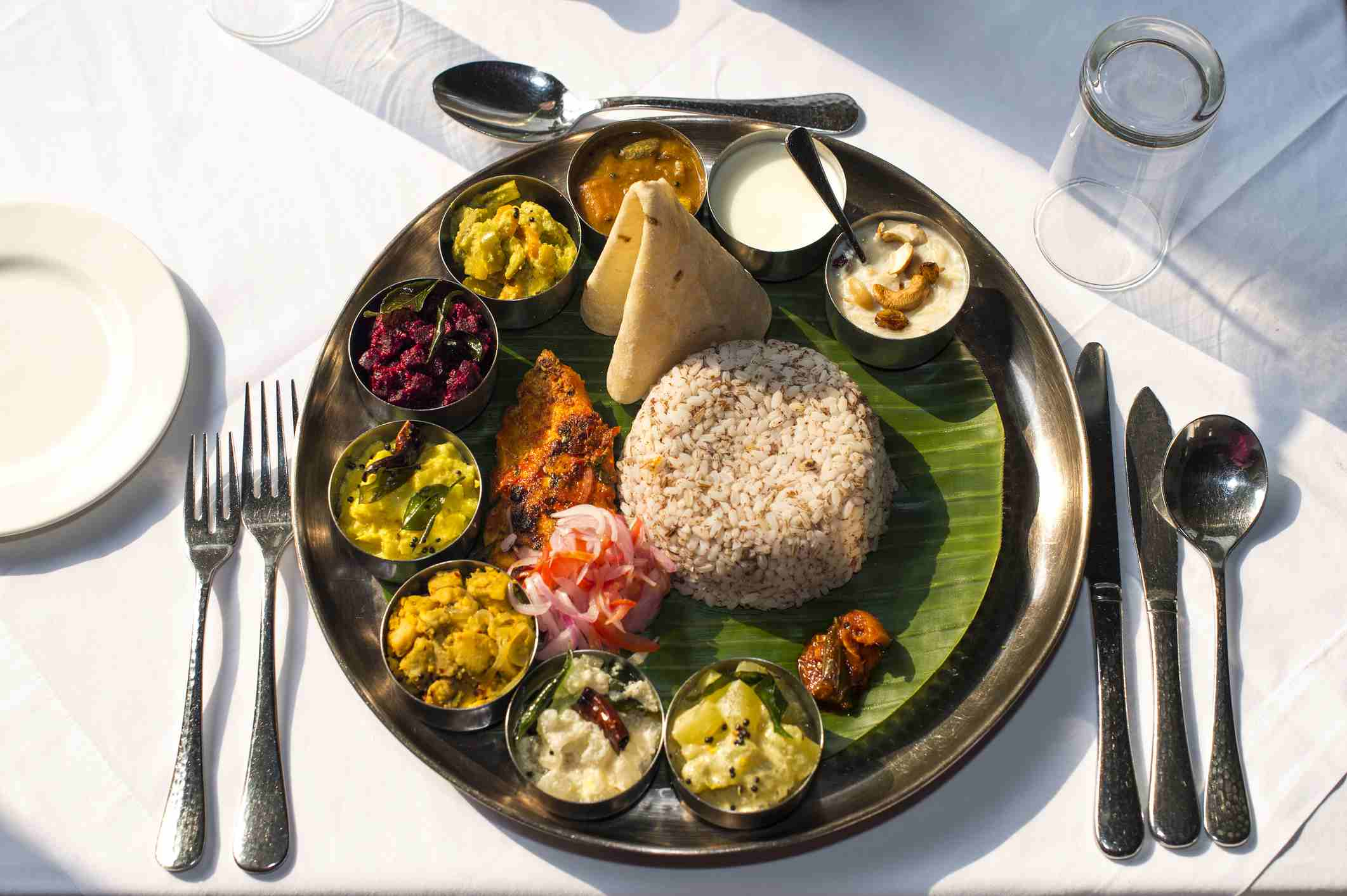 South Indian meal.