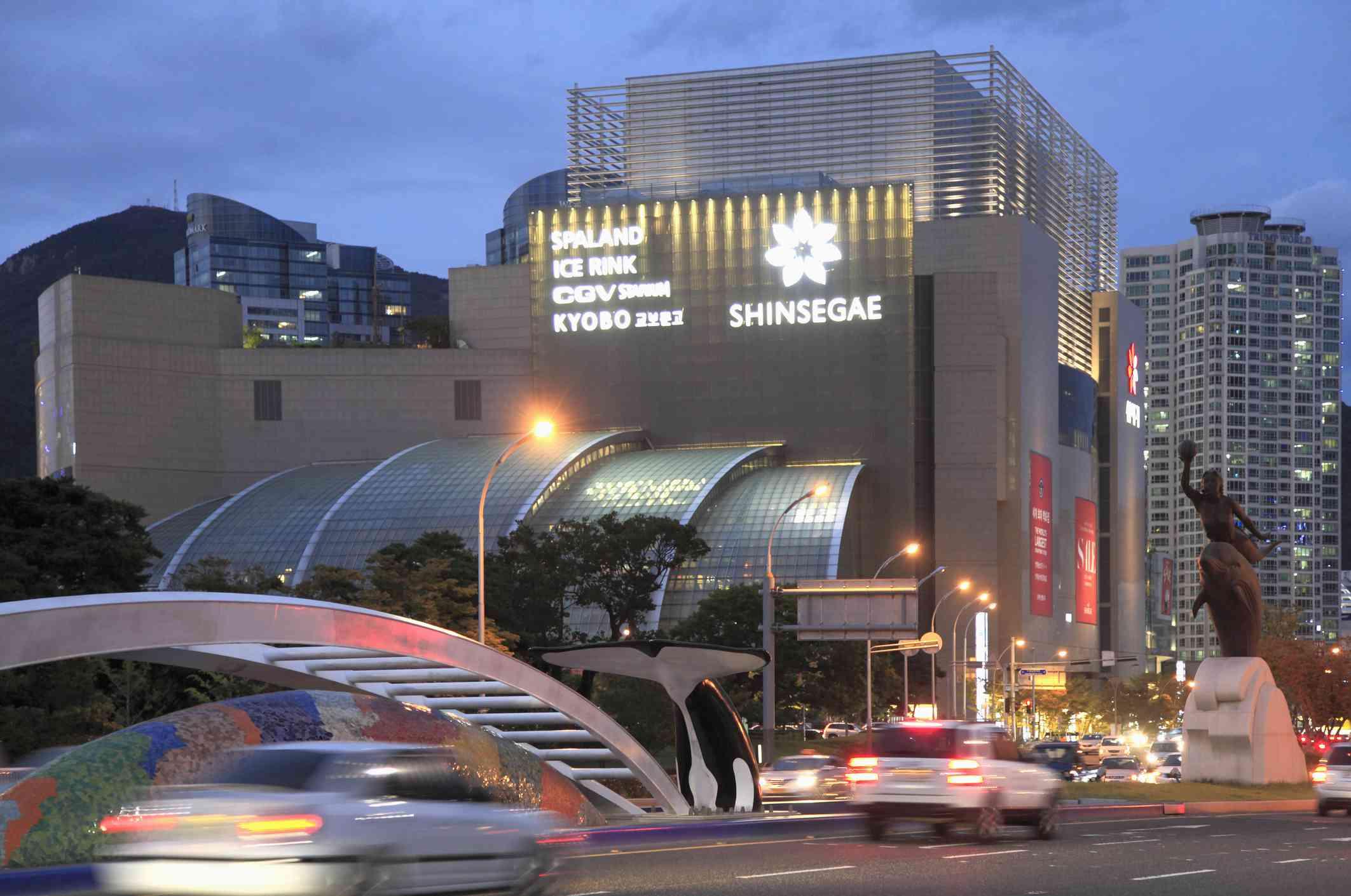 South Korea, Busan, Centum City, Shinsegae department store