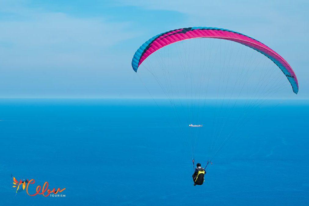 Paragliding off Oslob, Cebu