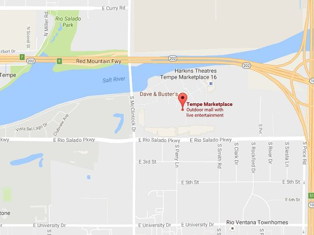 Tempe Marketplace Map Address, Directions, and Map to Tempe Marketplace in AZ
