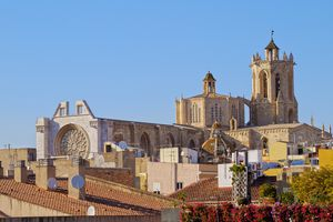 Cathedral of Tarragona on sunny day