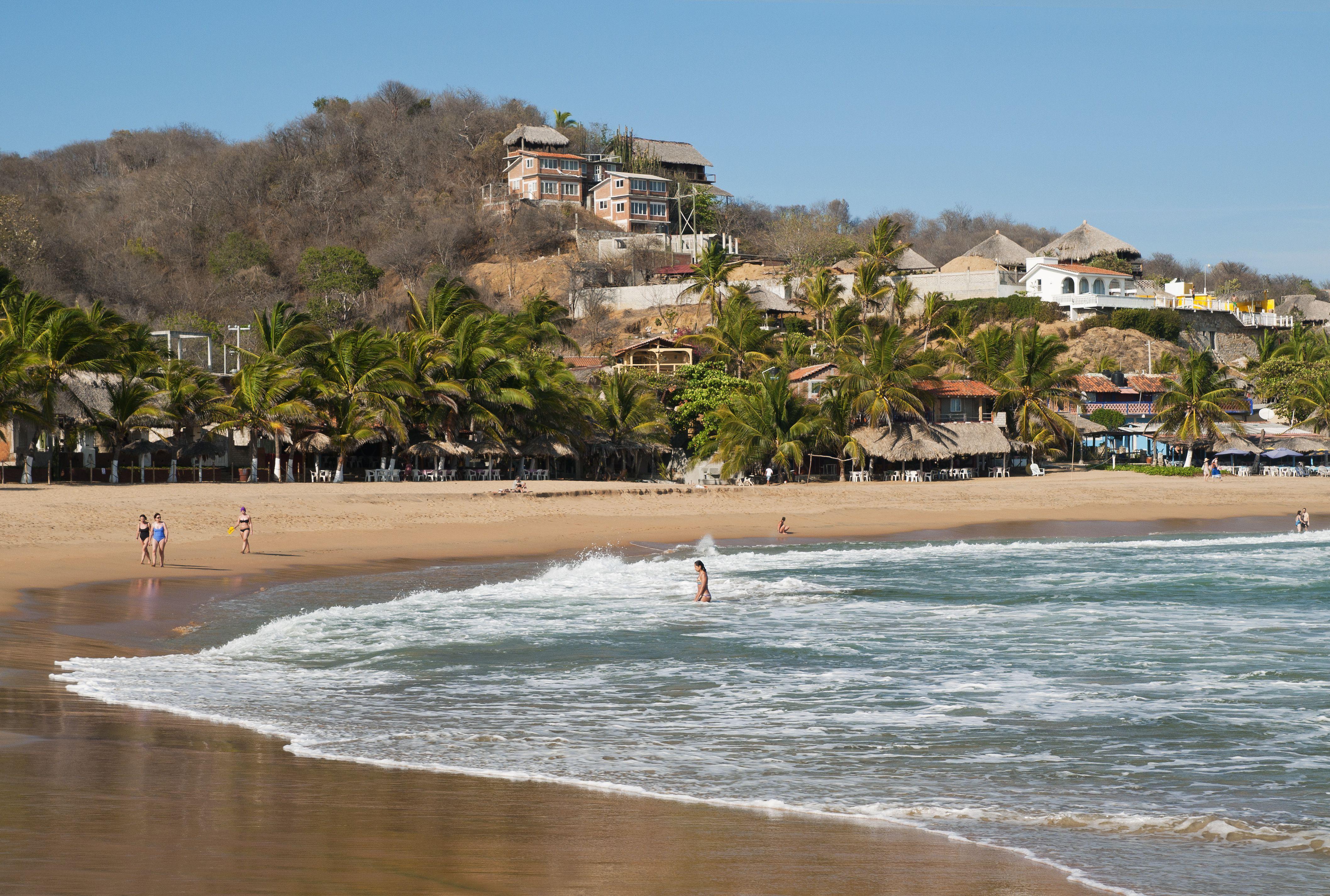 La playa de San Agustinillo