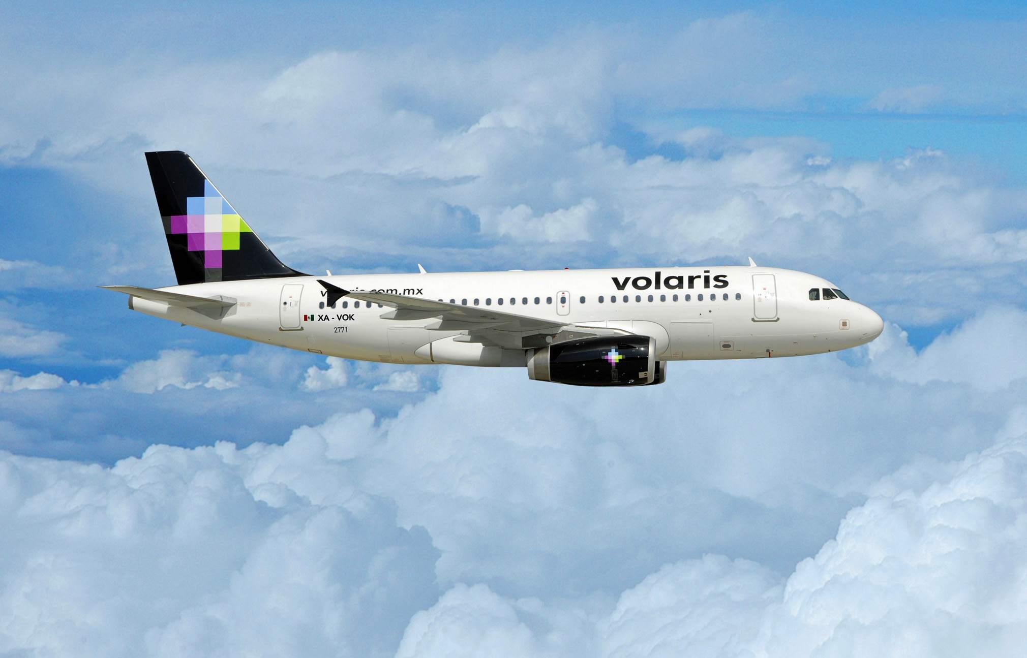 Volaris plane soars over clouds