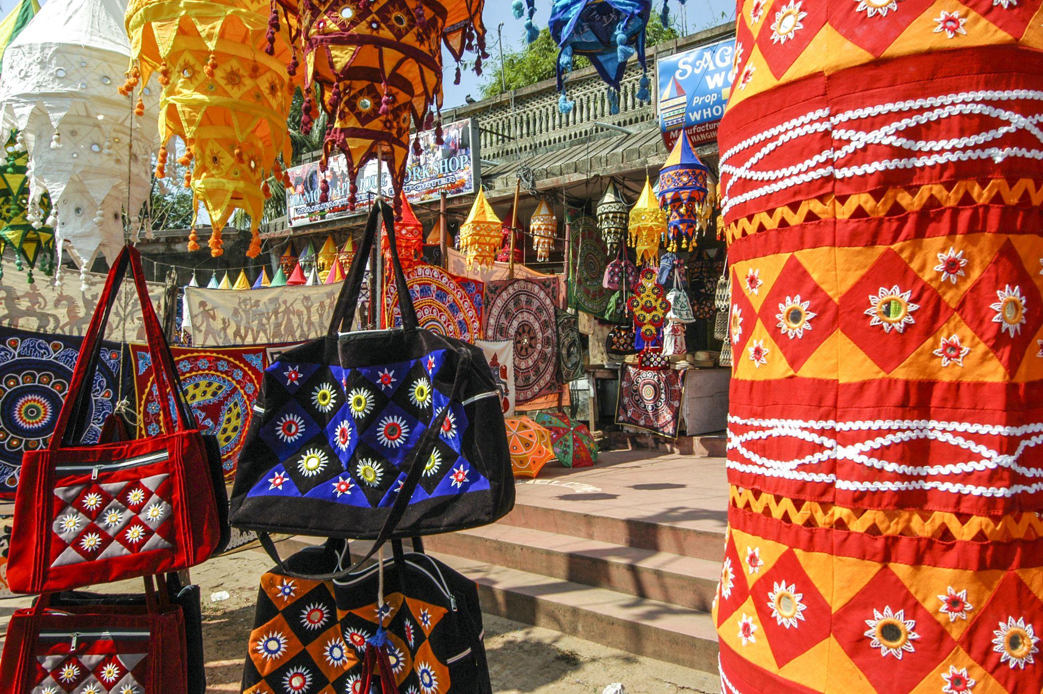 Handicrafts in Pipli, Odisha.