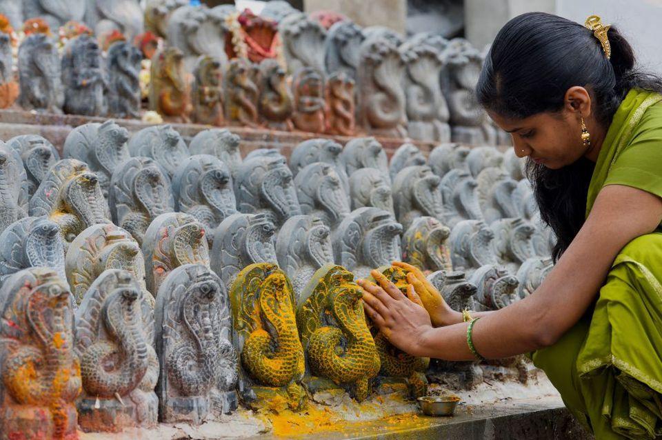Nag Panchami festival, India.