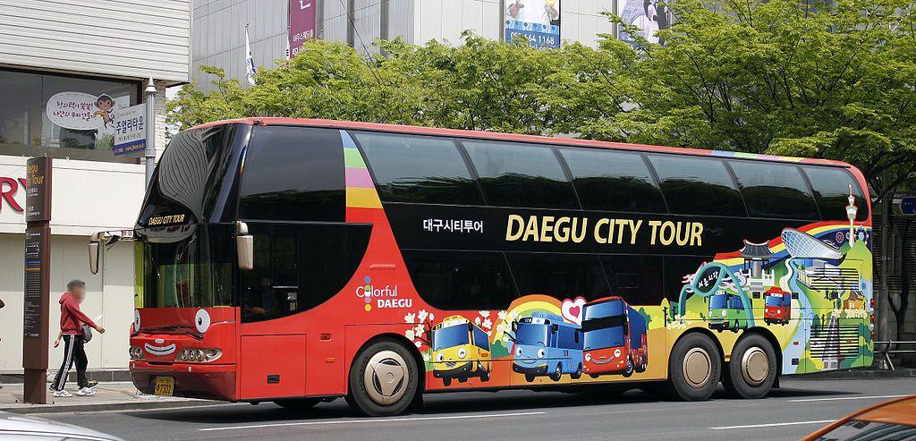 Daegu City Tour Double decker bus