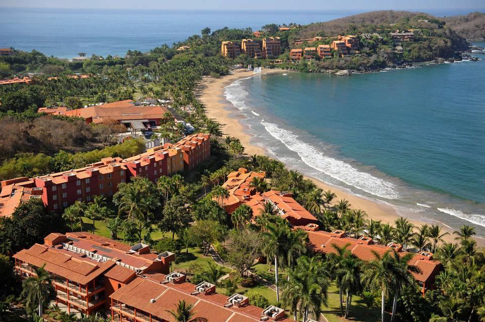 Vista aérea del Club Med Ixtapa