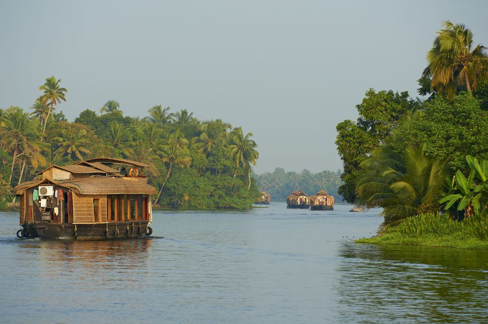 Houseboats on Kerala Backwaters.