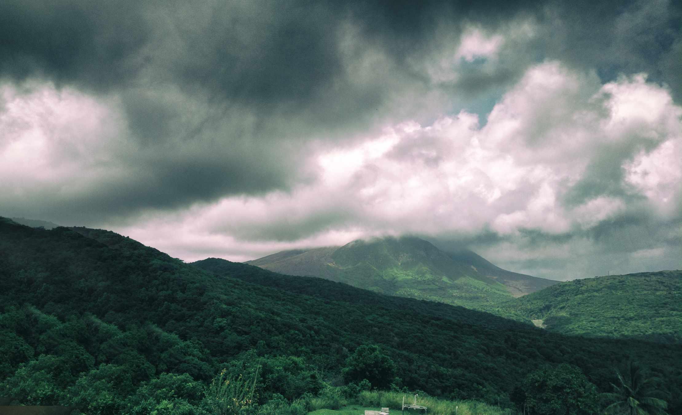 Volcán Soufriere Hills en Montserrat