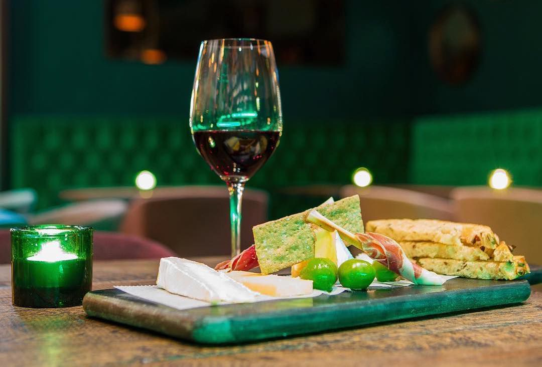 Wine and snacks at Port 9