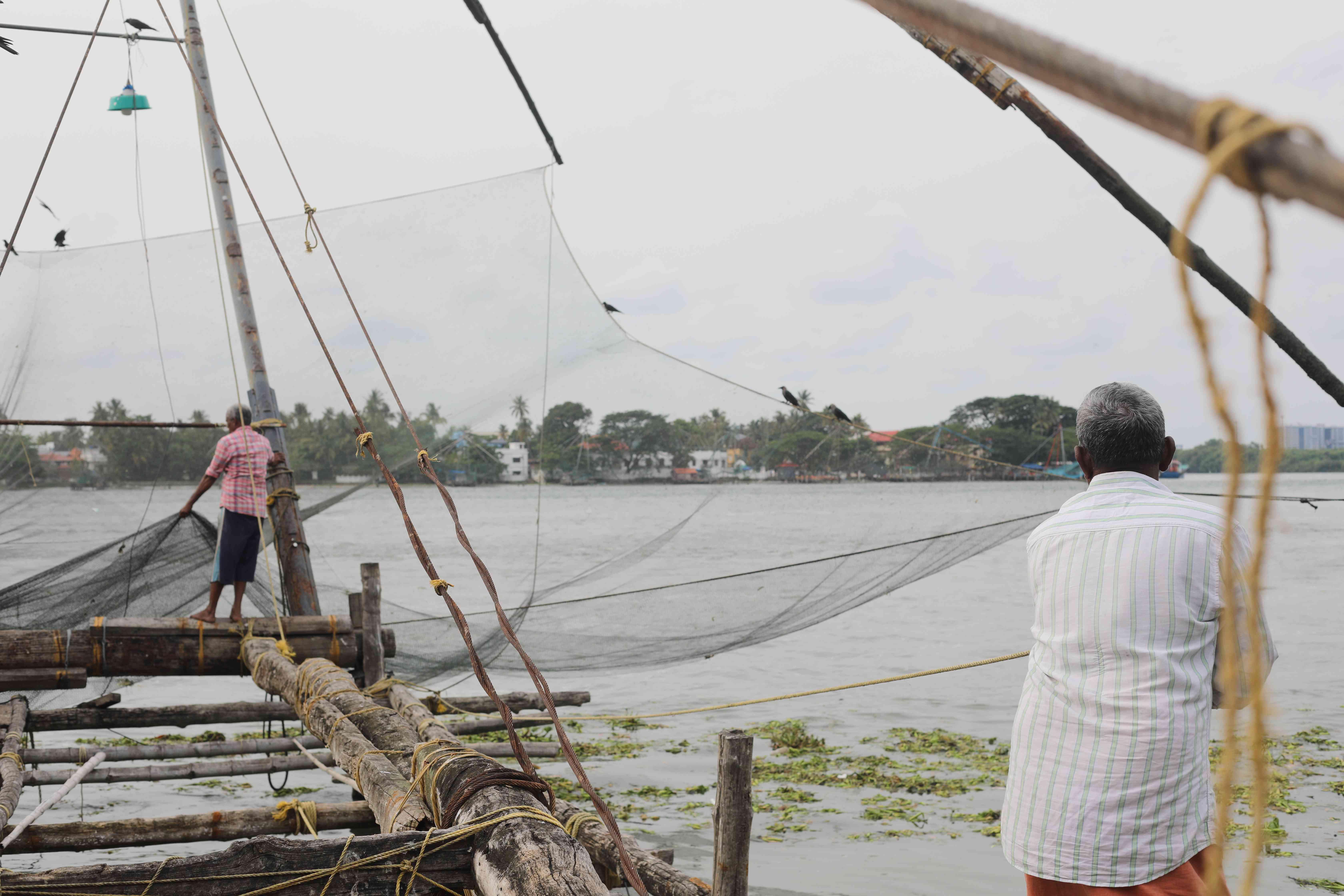 Fishing nets in Kochi