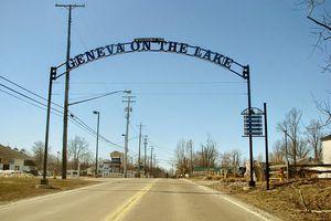 Geneva on the Lake Ohio welcome sign