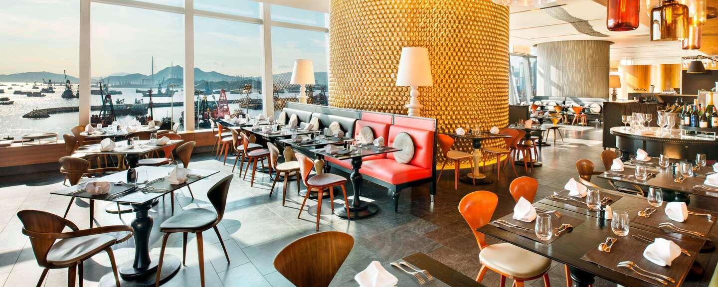 Large dining area at The Kitchen in W Hong Kong