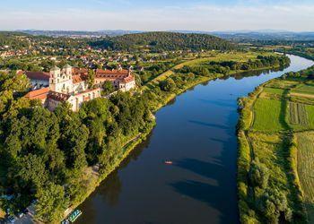 Benedictine abbey in Tyniec near Krakow, Poland, and Vistula River