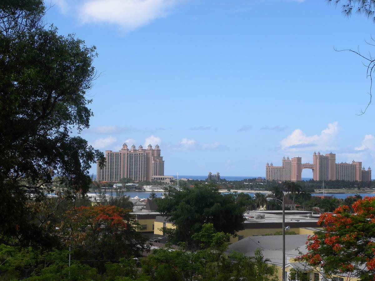 Paradise Island and the Atlantis Resort Complex from Fort Fincastle in Nassau