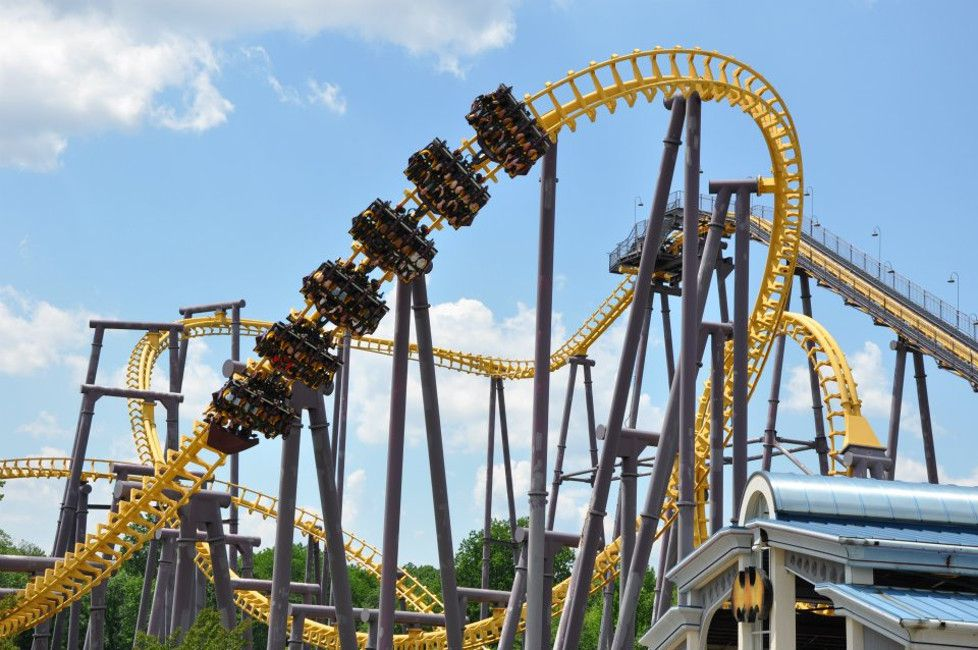 Roller coaster at Six Flags America