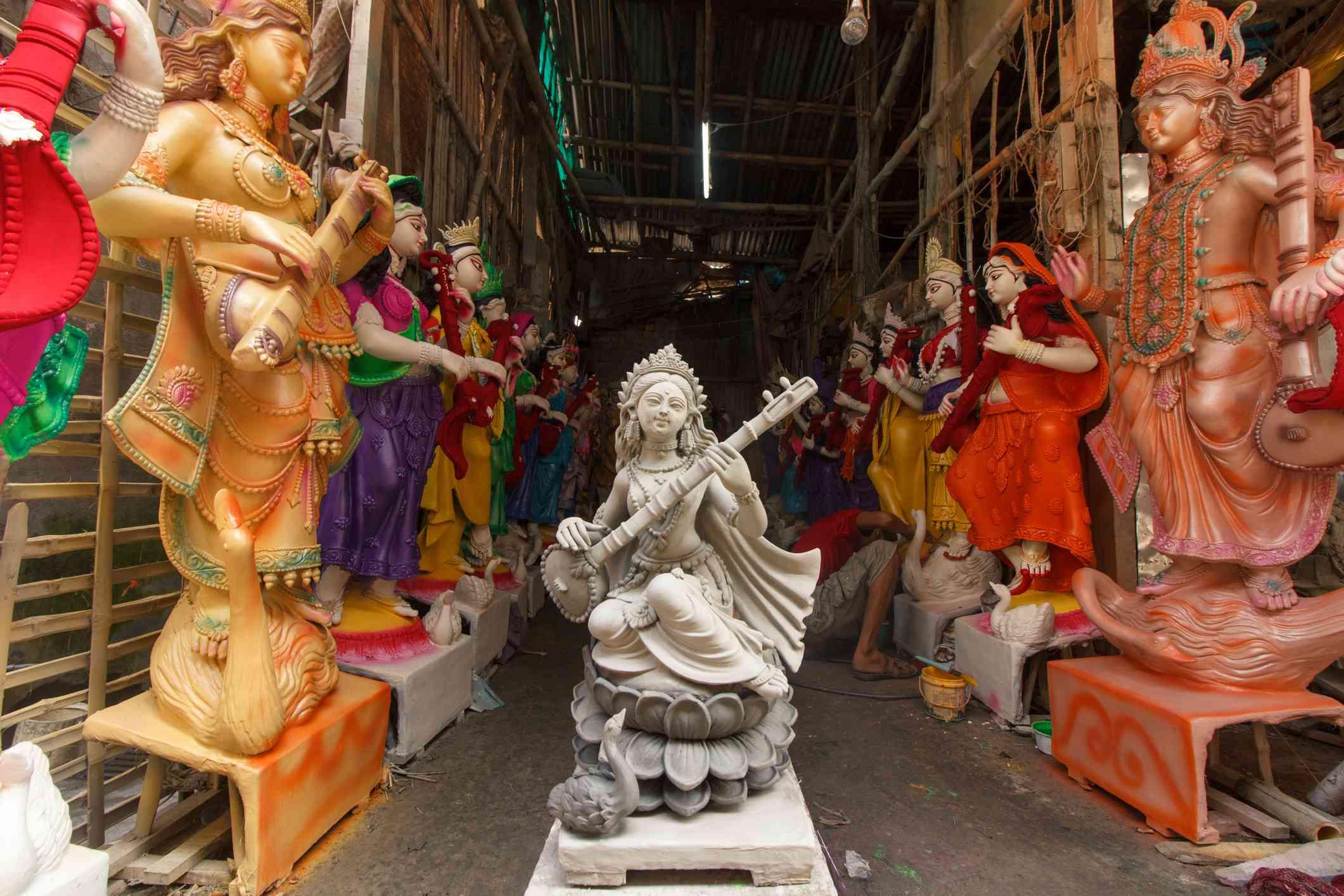 Beauty of Raw Clay, Goddess Saraswati