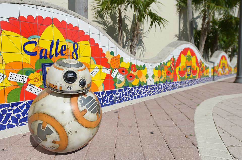 Calle Ocho tiles along street in Miami