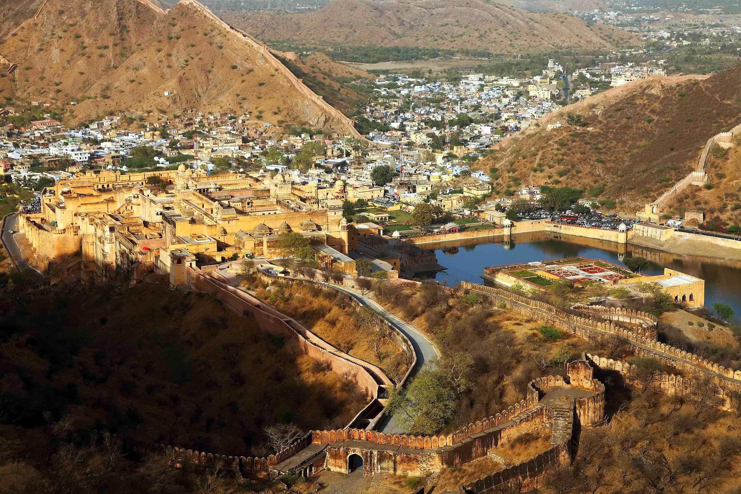 Aerial view of Jaipur.