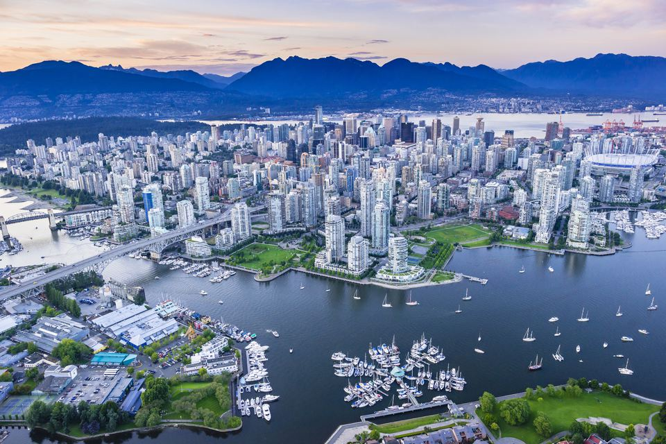 Vancouver, BC from the air