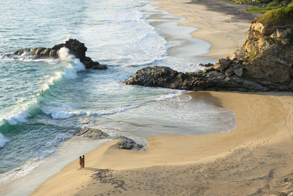 Nude beach, Spain